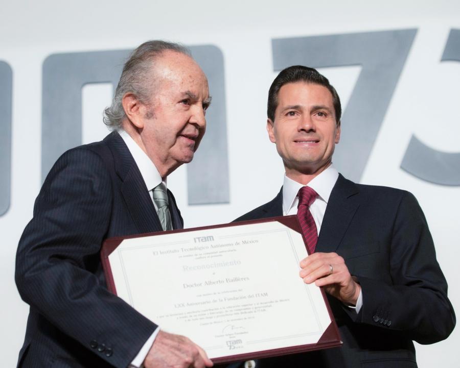 Don Alberto Baillères y el Presidente de los Estados Unidos Mexicanos, Enrique Peña Nieto